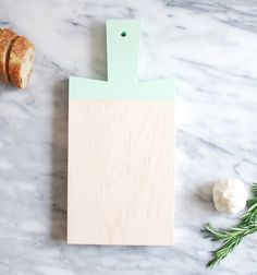 mint maple paddle cutting board