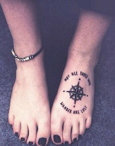 55 Attractive Foot Tattoo Designs- Pac Man, peacock feather and compass were epic