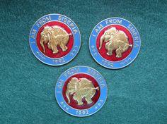 Vintage 1992 I Am From Siberia Mammoth Pins  Set by MidgeAndTilly