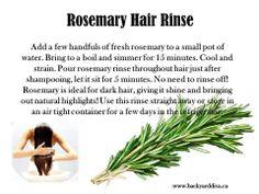 Rosemary Hair Rinse!!