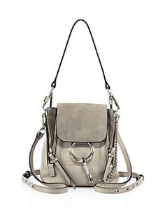 Chloé - Small Faye Leather & Suede Backpack
