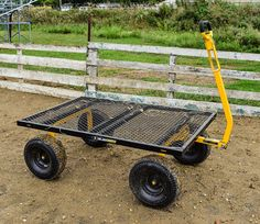 Carts Heavy-Duty Steel Utility Cart with Removable Sides