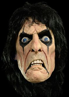 Alice Cooper - Halloween Mask $59.99 Sculpted by Mikey Rottela  Trick or Treat Studios and Global Merchandising Services are proud to present for the the officially licensed Alice Cooper Mask.