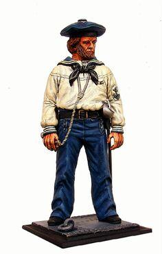 Marinaio della marina unionista, guerra civile americana.