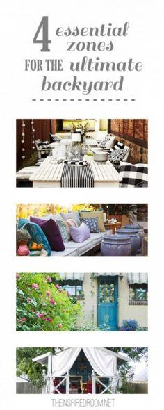 4 Essential Backyard Zones