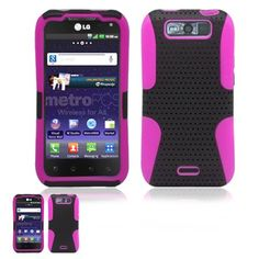Lg Connect 4g Ms840 / Viper 4g Ls840 Black And Pink Hybrid Case http://www.smartphonebug.com/accessories/18-best-lg-connect-4g-ms840-cases-and-covers/