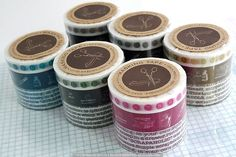 A cute set of 3 Typewriter themed Japanese Washi Masking Tape. Great for scrapbooking, collage, art journaling, card making, and any other creative paper craft projects you can think of!Top numbers: 10mm x 15mMiddle Icons: 15mm x 15mBottom Type: 20mm x 15m $8.25