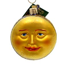 Old World Christmas Man In The Moon Glass Ornament Size: 3.5 Inches Material: Glass Type: Glass Ornament Brand: Old World Christmas Item Number: Old World Christmas 22018 Catalog ID: 11373 New With Ta