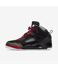 46f703cb9c8242 Jordan Spizike Black Classic Green White Varsity Red 315371-026 Baskets  Jordan