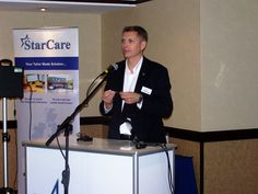 Star's Group Sales & Marketing Manager Dr. Rob Lamb presenting at the Roadshow