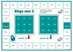 Spellingscategorieën en woorden nog eens herhalen van thema 1 van Taal Actief. Dutch Language, Bingo, Circuit, 1, Coaching, Classroom, Teacher, Letters, Learning