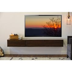 Floating Entertainment Console Wall Mount TV Stand by WoodwavesInc Tv Stand Furniture, Media Furniture, Furniture Storage, Floating Media Cabinet, Floating Shelves, Motorized Tv Lift, Television Console, Plasma Tv Stands, Wall Mount Tv Stand