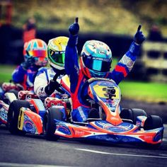 We're getting ever closer to Spring 2014!!! That means you're closer to looking just like this guy -------->   That is, unless you don't win. Then you might look more like the guy in the back. #karting #racing #gokart
