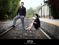 Train Track Engagement Shoot