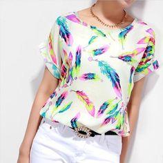 #Blusa con estampados de #colores. ¿Te gusta? Encuéntrala aquí.