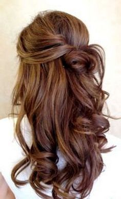 Wedding hairstyles for long hair half up #weddinghairstyles