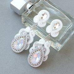 Earrings for Bride by MoniqJewelry on Etsy