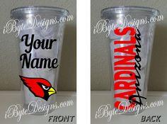 Custom  Arizona Cardinals  16 oz. or 32 oz. by iByteDesigns
