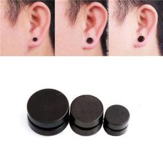 Wallmart.win Men Black Magnetic Rounded Ear Clip Studs Earrings Non Piercing: Vendor: BG-US-Jewelry-and-Watch Type: Men Jewelry Price: 9.59…