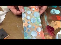 A technique taught to me by Lynne Perella, and once you start bumping your stencils you won't be able to stop either. It adds more depth to what you do, and gives an awesome matte background with Fresco Chalk acrylic Paints, perfect to stamp on.