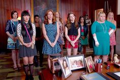 Maison Jules Dot-Print Dress as seen on Chloe in Pitch Perfect 2 Elizabeth Banks Pitch Perfect, The Hit Girls, Pitch Perfect Movie, Movie Sequels, Movie Characters, World News Headlines, Rebel Wilson, Brittany Snow, Anna Kendrick