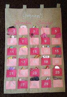 Personalised Fabric Kids Ramadan Advent Calendar by LoveImaan Eid Crafts, Ramadan Crafts, Fest Des Fastenbrechens, Homemade Calendar, Decoraciones Ramadan, Islam For Kids, Happy Eid, Fabric Crafts, Gifts For Kids