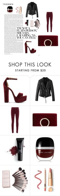"""Untitled #7"" by emir-811 ❤ liked on Polyvore featuring Steve Madden, AG Adriano Goldschmied, Jessica McClintock, Inglot and Marc Jacobs"