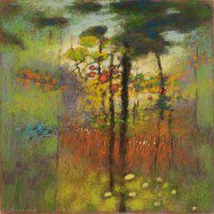 Rick Stevens artwork spanning from Abstract Landscape, Landscape Paintings, Tree Paintings, Abstract Art, Rick Stevens, Oil Painting Flowers, Painting Art, Zentangle Drawings, Buddhist Art
