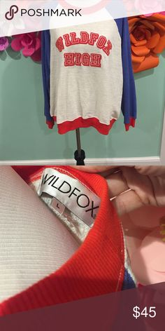 Wildfox High Sweatshirt Slightly distressed and super soft Wildfox pull over. Never worn, great condition. Wildfox Tops Sweatshirts & Hoodies