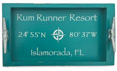 Custom Coordinates Serving Tray - Large, Custom Latitude / Longitude Serving Tray