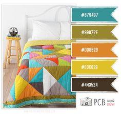 Combo 05 - Opção de paleta de cor para combinar com sofá marrom e berço de madeira