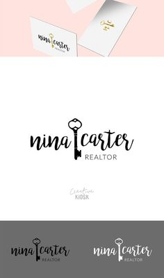 Real Estate Business Logo Design. Modern Realtor Logo. Simple Logo Design. Watermark Logo. DIY Branding. Layered PSD Template. #0385.