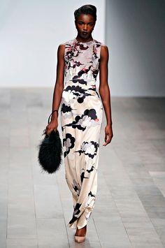 Holly Fulton Long silk dress clouds