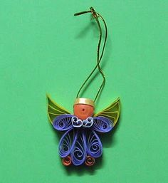 Quilled Angel Ornament for Christmas