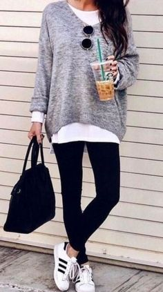 Casual Fall Outfits, Black Leggings Outfits Source by malricj The post Casual Fall Outfits, Black Leggings Outfits appeared first on How To Be Trendy. Source by outfits fall leggings Legging Outfits, Leggings Fashion, Sweater Fashion, Denim Outfits, Sweater Outfits, Summer Work Outfits, Casual Winter Outfits, Office Outfits, Spring Outfits