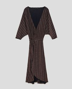Shimmery Crossover Dress, Copper (35.95)