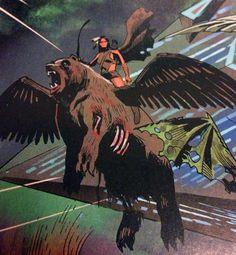 Dani Moonstar as one of the 4 Horsemen of Apocalypse, from Uncanny Avengers #6