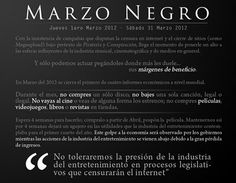 comienza #marzonegro o #blackmarch la campaña de Anonymous