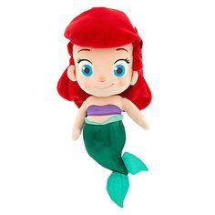 "disney store princess ariel small toddler plush 14"" new with tag"