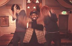 Ed Sheeron, Harry Styles, and some black guy doing a hilarious dance! (gif)