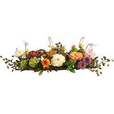 Artistic rustic Flower Arrangements | ... Natural Mixed Peony Centerpiece Silk Flower Arrangement | Meijer.com