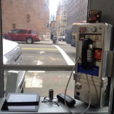 Clark&Kent headquarter in a phone booth in New York. Always open.