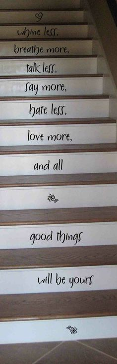 stairs w/ quotes