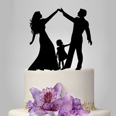 acrylic Wedding Cake Topper Silhouette funny by walldecal76