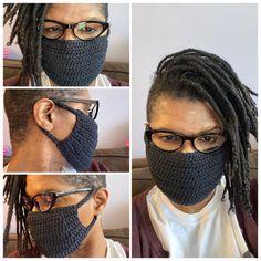 Crochet Mask, Crochet Faces, Easy Face Masks, Diy Face Mask, Half Double Crochet, Single Crochet, Facial, Disposable Gloves, Diy Mask