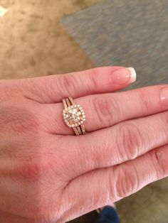 Another rose gold find at Adler's...pretty neat and different setting....