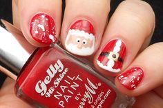 Advent Tutorial: Santa Nail Art