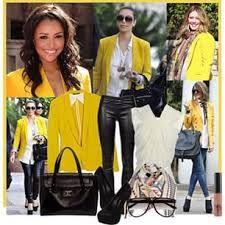 Resultado de imagen para como combinar chaqueta amarilla