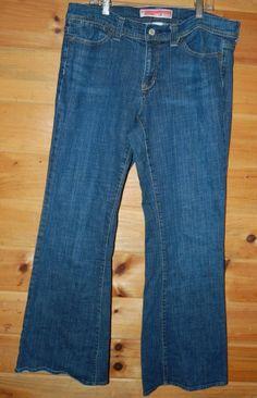 Gap Jeans 12 Regular Curvy Fit Wide Leg Med to Dark Wash #GAP #WideLeg