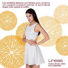 Vestidos blancos... #Lineas #outfit #moda #tendencias #2014 #ropa #prendas #estilo #primavera #outfit #blanco #vestido